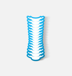 Paper clipped sticker spine vector