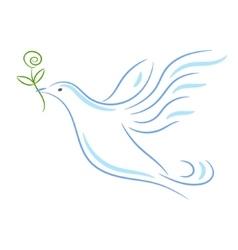 Peace dove sketch vector