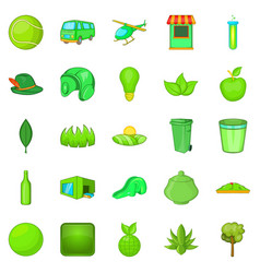 plantation icons set cartoon style vector image