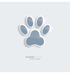 Plastic icon footprint symbol vector image