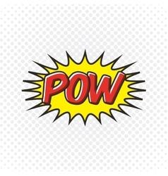 Pow comic pop art style vector