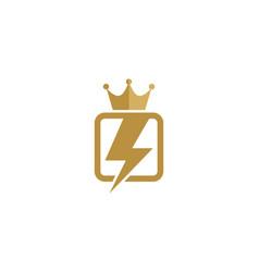 power king logo icon design vector image
