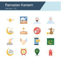 ramadan kareem icons modern line design for vector image