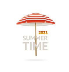 realistic detailed 3d sun umbrella banner concept vector image