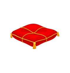 Red ceremonial pillow monarchy attribute vector