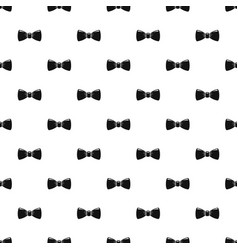 retro bow tie pattern seamless vector image