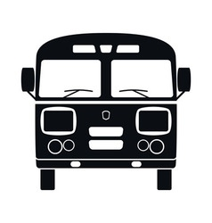 Retro Bus Icon vector image