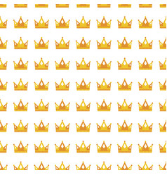 seamless gold white crown pattern background vector image