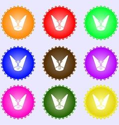 Spotlight icon sign Big set of colorful diverse vector