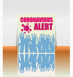 Stop covid-19 coronavirus alert covid-19 vector