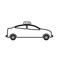 taxi it is black icon vector image