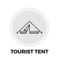 Tourist Tent Line Icon vector image