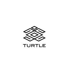 turtle line logo design concept vector image