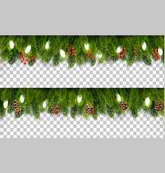 Two christmas holiday boards with branches of vector