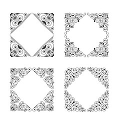 vintage style square frames collection vector image