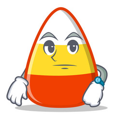 waiting candy corn character cartoon vector image