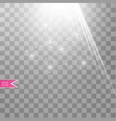 White transparent energy spotlight scene vector