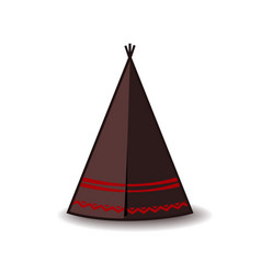 Wigwam icon indian teepee or tipi vector