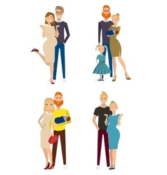 different kind of families vector image vector image