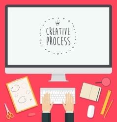 Flat design concept web Creative Process trendy vector image