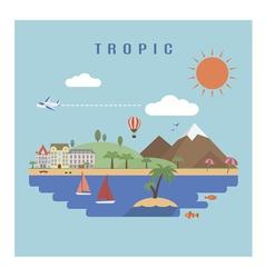 Landscape tropic vector image vector image