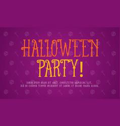on purple background halloween style vector image vector image