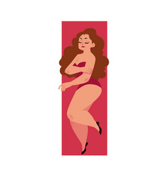 plump plus size caucasian curvy woman girl in vector image vector image
