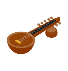 Traditional Indian sarod icon isometric 3d style vector image