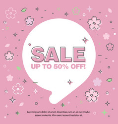 banner sale of 90 off last spring sale vector image vector image