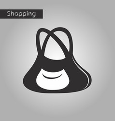 Black and white style icon ladies handbag vector