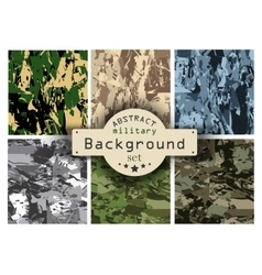 Camouflage military background set vector image