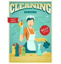 Cleaning Service Poster vector image vector image