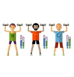 Gym logo design template sport athletics vector
