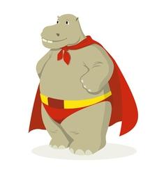 Hippo Superhero vector image vector image