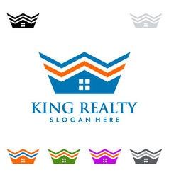 King estate Real estate logo design vector image vector image