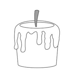 single candle icon vector image vector image