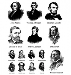 us presidents vector image vector image