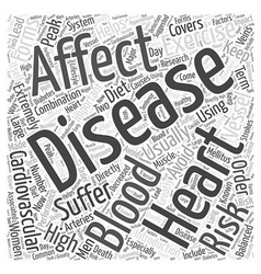 An introduction to heart disease word cloud vector