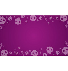 halloween background with skull collection vector image