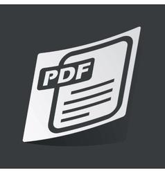 Monochrome PDF file sticker vector image vector image