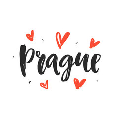 prague modern hand written brush lettering vector image