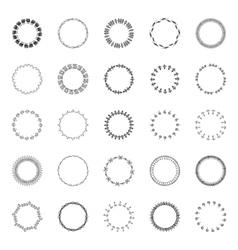 Circular designs borders vector image