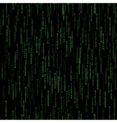 dark green seamless pattern with binary code vector image