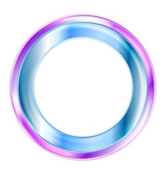 Elegant shiny circle logo vector image vector image