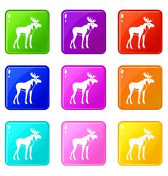 moose set 9 vector image vector image