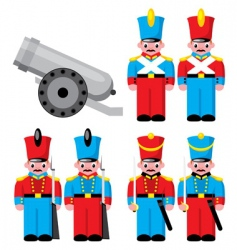 toy soldier vector image vector image