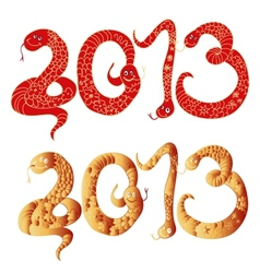 2013 Chinese Year of Snake Numbers vector