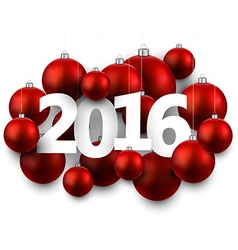 2016 New Year card vector image