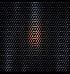 3d dark metal texture background with light effect vector image