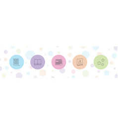5 page icons vector